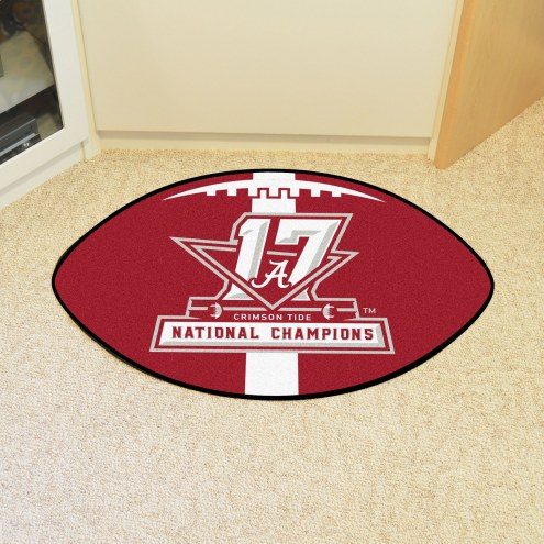Alabama Crimson Tide National Champions Football Floor Mat