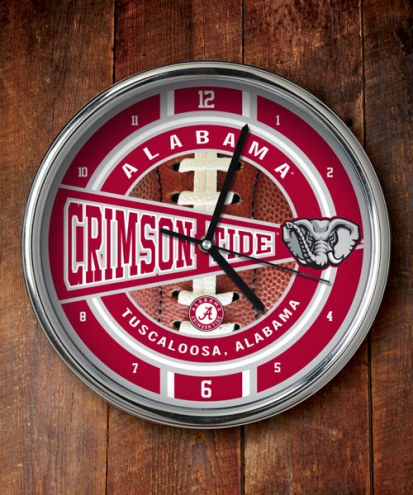 Alabama Crimson Tide NCAA Chrome Wall Clock