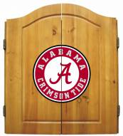 Alabama Crimson Tide NCAA Complete Dart Board Cabinet Set