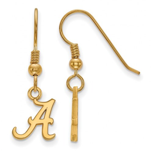 Alabama Crimson Tide NCAA Sterling Silver Gold Plated Extra Small Dangle Earrings