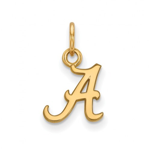 Alabama Crimson Tide NCAA Sterling Silver Gold Plated Extra Small Pendant