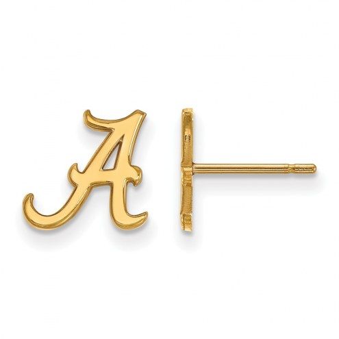 Alabama Crimson Tide NCAA Sterling Silver Gold Plated Extra Small Post Earrings