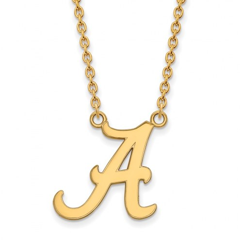 Alabama Crimson Tide NCAA Sterling Silver Gold Plated Large Pendant Necklace