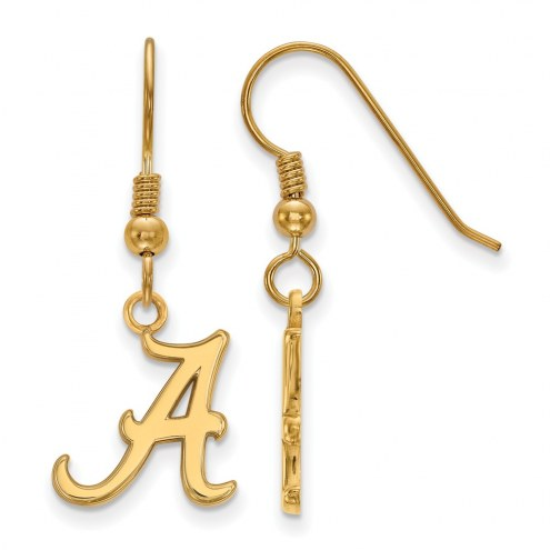 Alabama Crimson Tide NCAA Sterling Silver Gold Plated Small Dangle Earrings