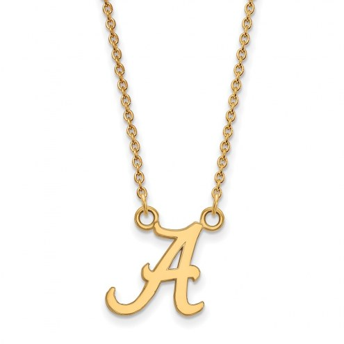 Alabama Crimson Tide NCAA Sterling Silver Gold Plated Small Pendant Necklace