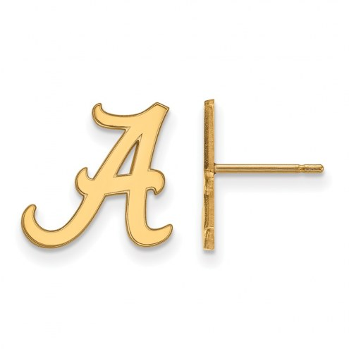 Alabama Crimson Tide NCAA Sterling Silver Gold Plated Small Post Earrings