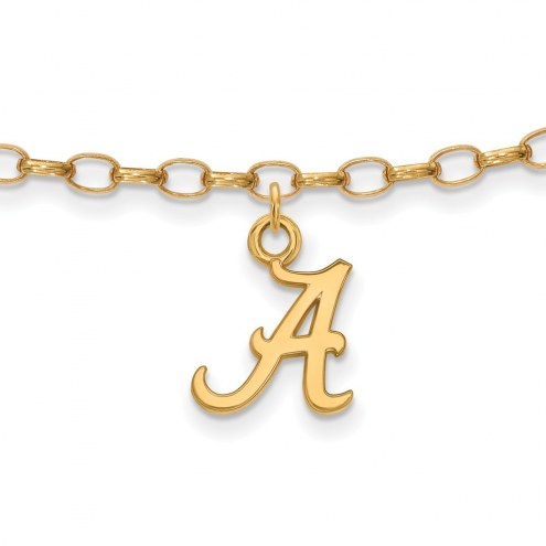 Alabama Crimson Tide NCAA Sterling Silver Anklet