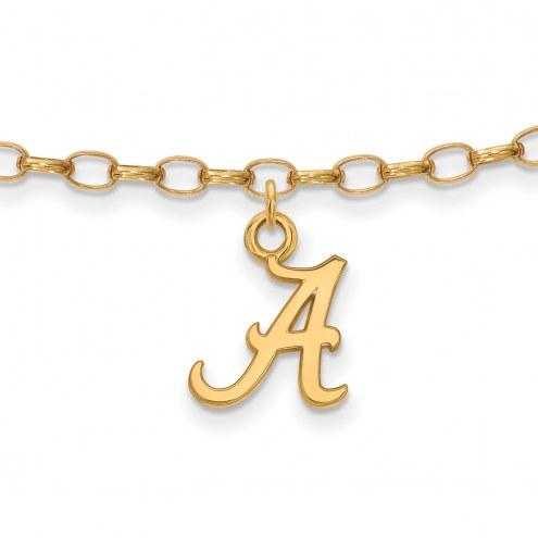 Alabama Crimson Tide NCAA Sterling Silver Anklet