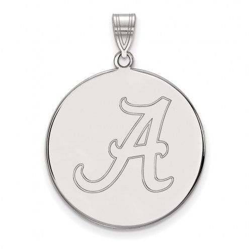 Alabama Crimson Tide NCAA Sterling Silver Extra Large Disc Pendant