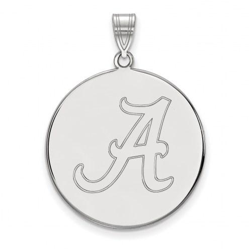 Alabama Crimson Tide NCAA Sterling Silver Extra Large Disc Pendant
