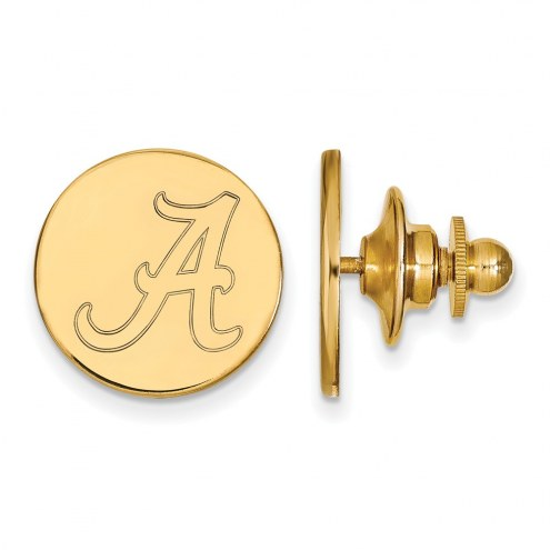 Alabama Crimson Tide NCAA Sterling Silver Gold Plated Lapel Pin