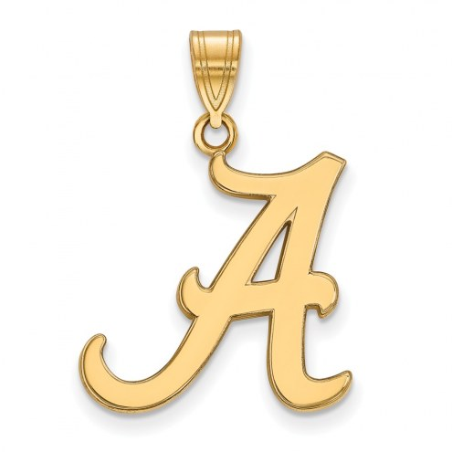 Alabama Crimson Tide NCAA Sterling Silver Gold Plated Large Pendant