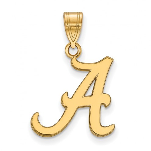 Alabama Crimson Tide NCAA Sterling Silver Gold Plated Medium Pendant