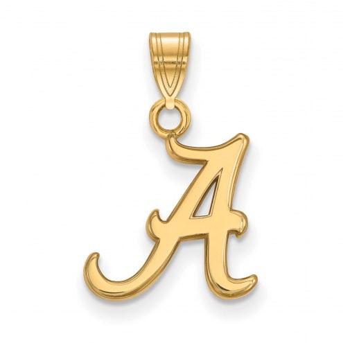 Alabama Crimson Tide NCAA Sterling Silver Gold Plated Small Pendant