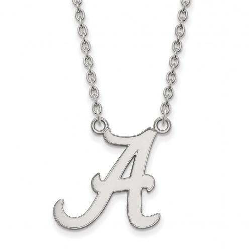 Alabama Crimson Tide NCAA Sterling Silver Large Pendant Necklace
