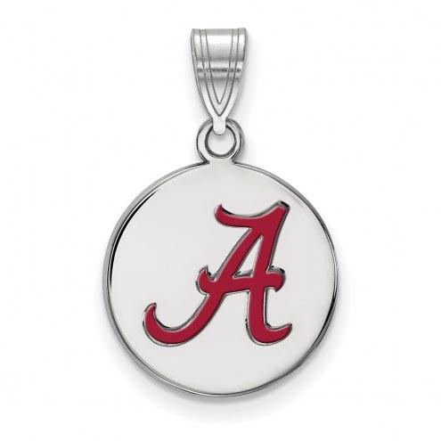 Alabama Crimson Tide NCAA Sterling Silver Medium Enameled Disc Pendant