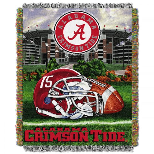 Alabama Crimson Tide NCAA Woven Tapestry Throw / Blanket