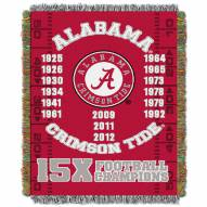Alabama Crimson Tide NCAA Woven Tapestry Throw Blanket