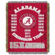 Alabama Crimson Tide NCAA Woven Tapestry Throw Blanket