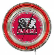 Alabama Crimson Tide Neon Clock