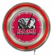 Alabama Crimson Tide Neon Clock
