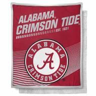 Alabama Crimson Tide New School Mink Sherpa Throw Blanket
