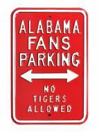 Alabama Crimson Tide No Tigers Parking Sign