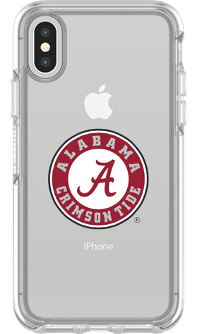 Alabama Crimson Tide OtterBox iPhone X Symmetry Clear Case