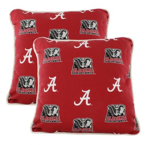 Alabama Crimson Tide Outdoor Decorative Pillow Set