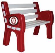 Alabama Crimson Tide Park Bench