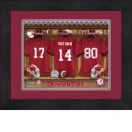 Alabama Crimson Tide Personalized Locker Room 13 x 16 Framed Photograph