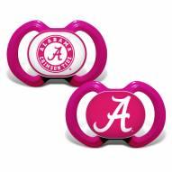 Alabama Crimson Tide Pink Pacifier 2-Pack