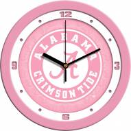 Alabama Crimson Tide Pink Wall Clock