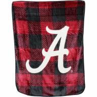 Alabama Crimson Tide Plaid Raschel Throw Blanket