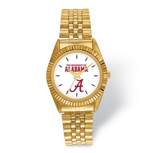 Alabama Crimson Tide Pro Gold Tone Gents Watch