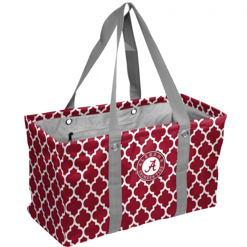 Alabama Crimson Tide Quatrefoil Picnic Caddy