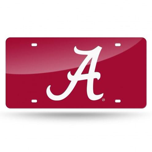 Alabama Crimson Tide Red Laser Cut License Plate