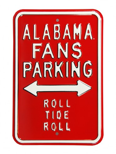 Alabama Crimson Tide Roll Tide Parking Sign