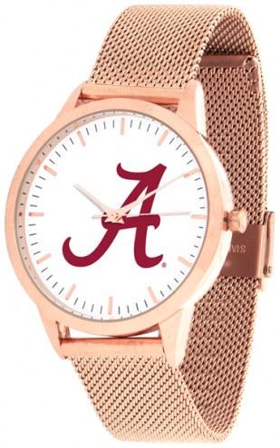 Alabama Crimson Tide Rose Mesh Statement Watch