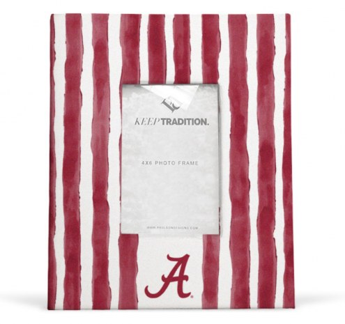 Alabama Crimson Tide School Stripes Picture Frame