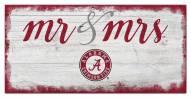 Alabama Crimson Tide Script Mr. & Mrs. Sign