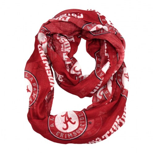 Alabama Crimson Tide Sheer Infinity Scarf