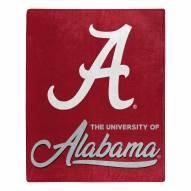 Alabama Crimson Tide Signature Raschel Throw Blanket