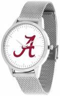 Alabama Crimson Tide Silver Mesh Statement Watch