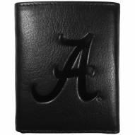 Alabama Crimson Tide Embossed Leather Tri-fold Wallet