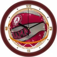 Alabama Crimson Tide Slam Dunk Wall Clock