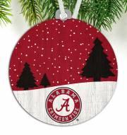 Alabama Crimson Tide Snow Scene Ornament