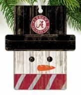 Alabama Crimson Tide Snowman Ornament