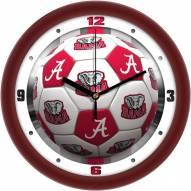 Alabama Crimson Tide Soccer Wall Clock