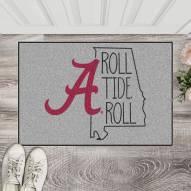 Alabama Crimson Tide Southern Style Starter Rug